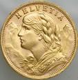 B80. Szwajcaria, 20 franków 1947, Heidi, st 1-