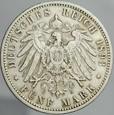 117. Niemcy, 5 marek 1893, Prusy, st 3+