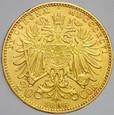 213. Austria, 20 koron 1896, Franz Josef, st 2