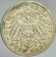 374. Niemcy, 5 marek 1907, Prusy, st 3-2