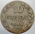 432. Królestwo Polskie, 10 groszy 1840 MW, st 3