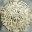 331. Niemcy, 5 marek 1903, Prusy, st 3