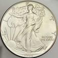 261. USA, Dolar 1986, Statua, st 1-, uncja srebra