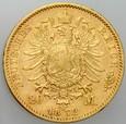 B100. Niemcy, 20 marek 1872, Bawaria, st 3