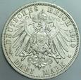 366. Niemcy, 3 marki 1910, Prusy, st 2