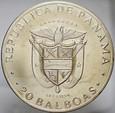 Panama, 20 balboas 1973, Bolivar, st 2+