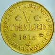 A234 Braunschweig, 5 Talarów 1815, Jerzy III, st 3+