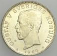 B185. Szwecja, Korona 1940, Gustaw V, st 1