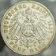 338. Niemcy, 5 marek 1907, Prusy, st 3-2