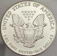281. USA, Dolar 1992, Statua, st 1, uncja srebra