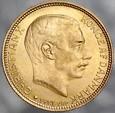 A129. Dania, 20 koron 1913, Christian X, st 2