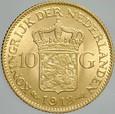 472. Holandia, 10 guldenów 1912, Wilhelmina, st 1