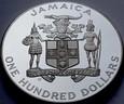 Jamaica, 100 dolarów 1986, Football, st L-