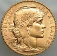B72l. Francja, 20 franków 1914, Kogut, st 1