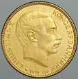 A141. Dania, 20 koron 1914, Christian X, st 2+