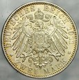 329. Niemcy, 2 marki 1911, Bayern, st 2/1