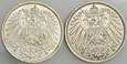 B176. Niemcy, Marka 1914 A i 1915 A, 2 szt