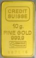 A234. Sztabka, 10 gram złoto 999, Credit Suisse, st 1