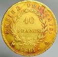 A181. Francja, 40 franków 1811 A, Bonaparte, st3-2