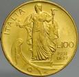 A245. Włochy, 100 lirów 1931, Vittorio, st 2+