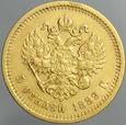 259. Rosja, 5 rubli 1889, Alex III, st 3+