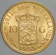 475. Holandia, 10 guldenów 1933, Wilhelmina, st 1