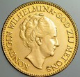 A194. Holandia, 10 guldenów 1926, Wilhelmina, st 2