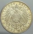 A187. Niemcy, 2 marki 1911, Bayern, st 2