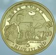 A84. Niue, 5 dollarów 2010, Szlak bursztynowy, st L