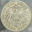 333. Niemcy, 5 marek 1900, Prusy, st 3+