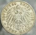 332. Niemcy, 5 marek 1902, Prusy, st 3+