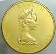 3. Kanada, 50 dolarów 1980, Elżbieta, st 1-, uncja złota