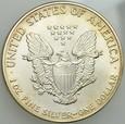 B186. USA, Dolar 1989, Statua, st 1, uncja srebra