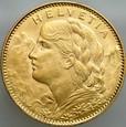 B71. Szwajcaria, 10 franków 1922, Heidi, st 1