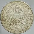 376. Niemcy, 5 marek 1904, Prusy, st 3+