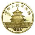 4690N 10 Yuan 1991 rok Chiny (Gold Panda)