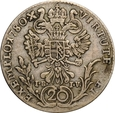AUSTRIA 20 KRAJCARÓW 1780 G I.B I.V MARIA TERESA