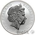 NOWA ZELANDIA - 1 DOLLAR - 2008 - KIWI - Uncja Ag999 - st. 1