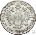 AUSTRIA - 20 KRAJCARÓW - 1841 A - FERDYNAND I - Stan: 2-