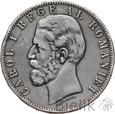 RUMUNIA - 5 LEI - 1883 - KAROL I - Stan: 3