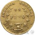 KOSTARYKA - 1 PESO - 1866 - Stan: ~3
