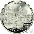 LIBERIA - 20 DOLARÓW - 2000 - LIZBONA - st. L/L-