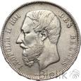BELGIA - 5 FRANKÓW - 1868 - LEOPOLD II - st. 3