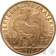 FRANCJA - 10 FRANKÓW - 1906 - KOGUT