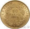 FRANCJA - 10 FRANKÓW - 1860 BB - NAPOLEON III - st. 2+/1-