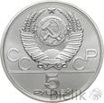 ROSJA - 5 RUBLI - 1980 - OLIMIADA W MOSKWIE - Stan: 1