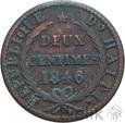 HAITI - 2 CENTIMES - 1846/AN43 - Stan: 3