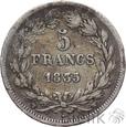 FRANCJA - 5 FRANKÓW - 1835 W - LUDWIK FILIP - st. 3