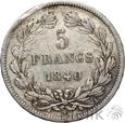 FRANCJA - 5 FRANKÓW - 1840 A - LUDWIK FILIP - st. 3