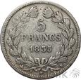 FRANCJA - 5 FRANKÓW - 1835 B - LUDWIK FILIP - st. 3